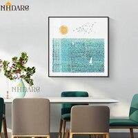 NHDARC Leinwand Drucke Kunst Nordic Frische Natürliche Landschaft Home Dekoration Gemälde Poster und Drucke Wand Bilder Platz 800
