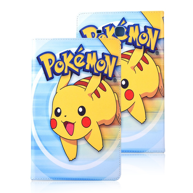 Case for Samsung Galaxy TabE 9.6 T560 T561 T565 Pokemon Go cute Pikachu tablet PU leather Cover Flip stand shell coque para capa