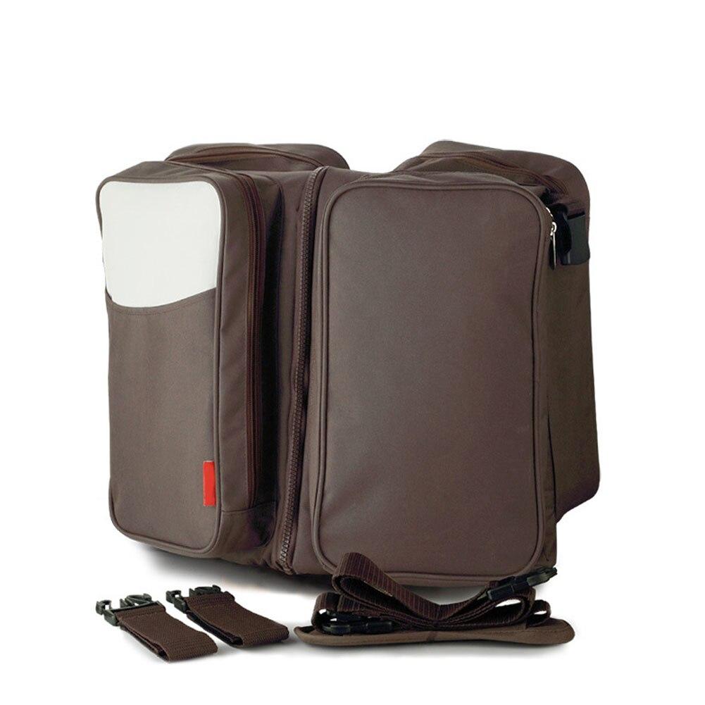 Новое поступление многофункциональный Мумия сумка мешок матери и ребенка Портативный складной путешествия кроватки высокое качество