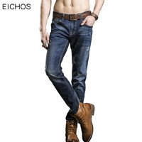 New Spring Summer Men's Jeans Straight Famous Brand Jeans Elasticity Slim Men's Pants Skinny Jean Casual Youth Pant