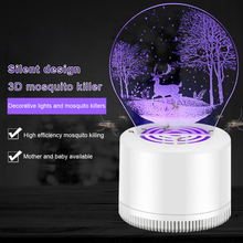 Mosquito Lamp, LED Killer, USB Power Saving, Efficient and Quiet Inhalation 3D Trapper