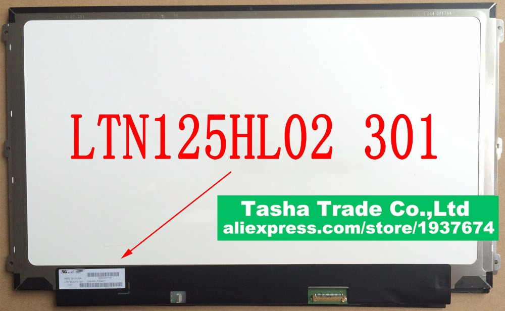 LTN125HL02 301 LTN125HL02-301 FHD 1920*1080 IPS Laptop LCD Screen LED Display Panel eDP 30 Pin new 14 0 slim lcd screen display panel laptop matrix replacement n140hce en1 30 pins edp ips high gamut wuxga fhd 1920x1080
