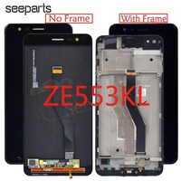New 5.5 For ASUS ZenFone 3 Zoom ZE553KL LCD Display Touch Screen Digitizer Assembly Replacement For ASUS Z01HDA LCD With Frame