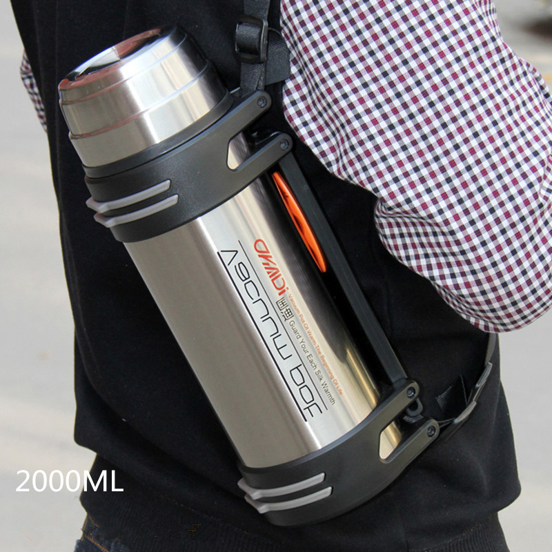 High Capacity Quality Thermos Flask Stainless steel Vacuum Flasks Thermocup Outdoor Silver Termos Travel Garrafa Termica