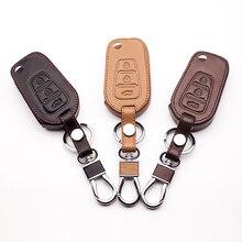 3 botões do Teclado Do Controle Remoto Tampa Do Teclado de Couro para Lifan X60 Dobrável 3 Capa proteja shell Chave Do Botão Do Carro starline a93