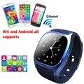 Deporte impermeable m26 bluetooth smart watch reloj de pulsera de lujo con dial sms recuerdan podómetro para android samsung xiaomi teléfono
