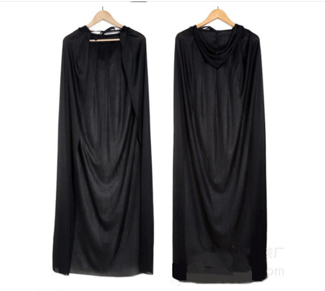Halloween Costume Horror Cos Costumes Black chiffon cloak Mens Sorcerer Wizard Demon Bleach clothes Party Prop Clothing