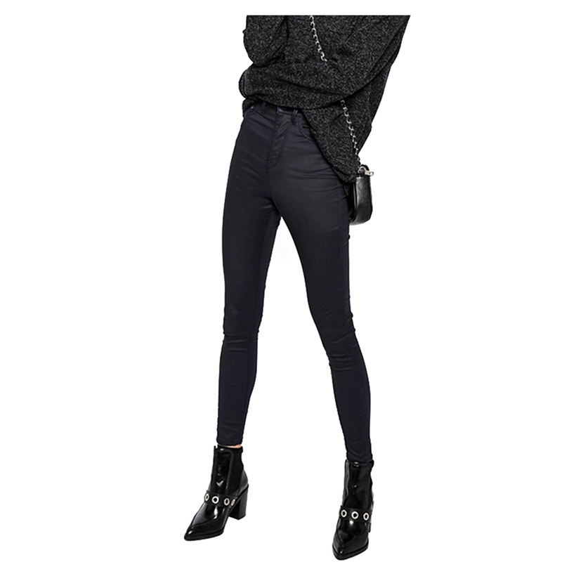 Women Pants Capris Leggings Autumn Spring Sexy High Waist Pants Trousers Dark Blue Pencil Pants Female