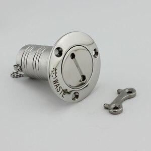 """Image 5 - 해양 보트 데크 필러 스테인레스 스틸 316 하드웨어 가스 디젤 연료 폐수 키 캡 필러 1.5 """"및 2"""""""