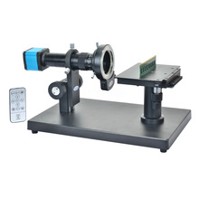 On sale 14MP HDMI HD USB Digital Industry Video Microscope Camera + Horizontal Microscope Table Stand + 180X C-MOUNT Lens+144 LED Light