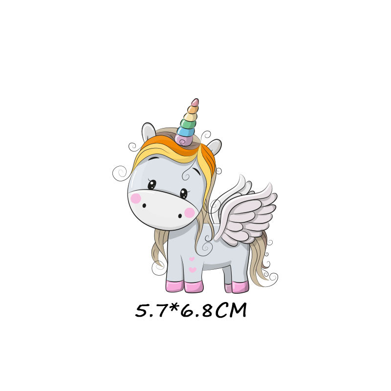 Милые маленькие животные Единорог Сова собака кошка патч для одежды стикер для детей мальчик девочка DIY патчи Футболка теплопередача Винил - Цвет: zt1086