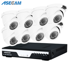 1080P CCTV NVR System 48V POE 2MP HD Network Vandalproof  Indoor Mini Dome Motion Detection IP Camera POE Surveillance System full hd 1920 1080 2 0mp cctv poe ip camera indoor dome network security 2mp 1080p 2ir leds cs 3mp lens