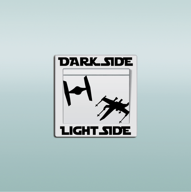 Star Wars Dark Side And Light Side Spaceship Switch Sticker
