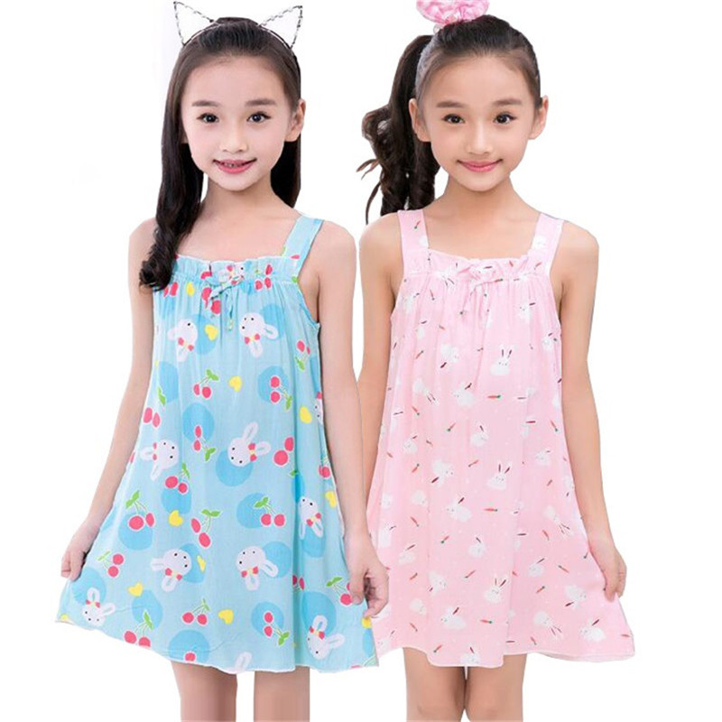 Children Girls Nightgown Sleep Dress for Girls Baby Pajamas Kids Sleepwear  Sling Nightdresses Girls Pyjama Home Clothing-in Nightgowns from Mother    Kids on ... 1e00ec7f35c5