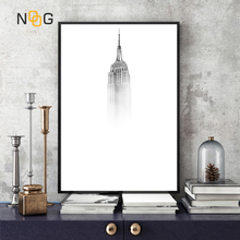 NOOG Empire State Building Minimalist Canvas Painting Wall Art Print Poster Home Decor Frames Not included
