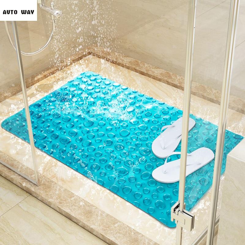 Salle de douche tapis pavé salle de bain tapis antidérapant 3D tapis de sol PVC tapis de pied imperméable tapis enfants tapis antidérapants