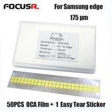 50PCS Original 175um OCA film for Samsung S6edge+ S7edge S8 S8+ note8 OCA Optical adhesive for Mitsubishi oca Adhesive repair