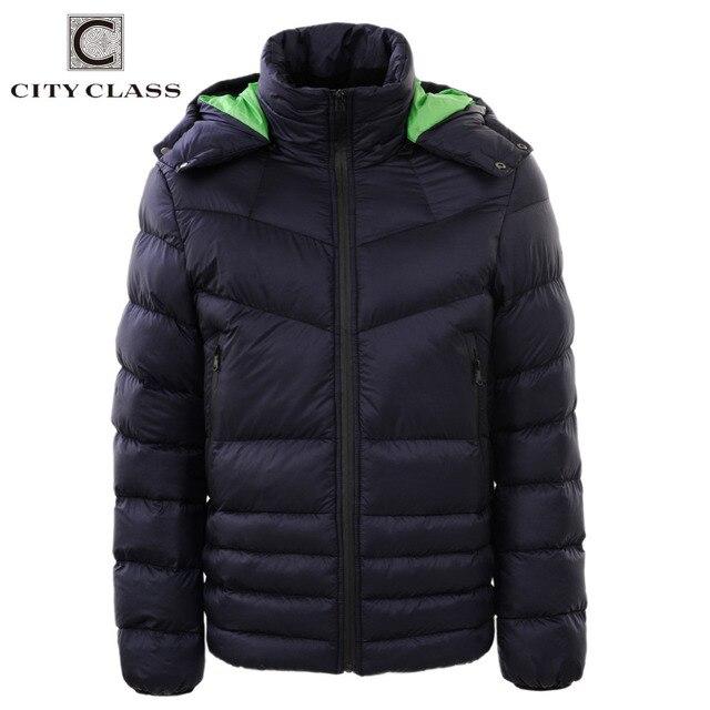 СИТИ КЛАСС Новый Толстые Теплые Зимние Куртки мужские Пальто Случайные Хлопка-проложенный Съемный Капюшоном Мужской Верхней Одежды Бесплатная Доставка 2679