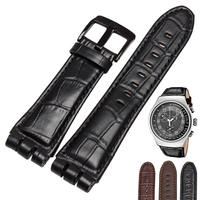 High Quality Genuine Leather Watch Straps 23mm Fits YOS440 449 401G 447 448 With Stainless Steel