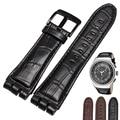 Alta qualidade do Couro Genuíno assista straps 23mm fits YOS440 449 401G 447 448 de aço inoxidável com fecho