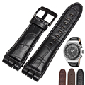 High quality Genuine Leather watch straps 23mm fits YOS440 449 401G 447 448  with stainless steel clasp