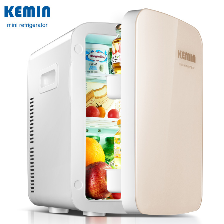 KEMIN 18L Mute Mini Refrigerator Car Home Dual Use Portable Fridge Camping Mini Car Fridge Small Cooler Box With Free Shipping