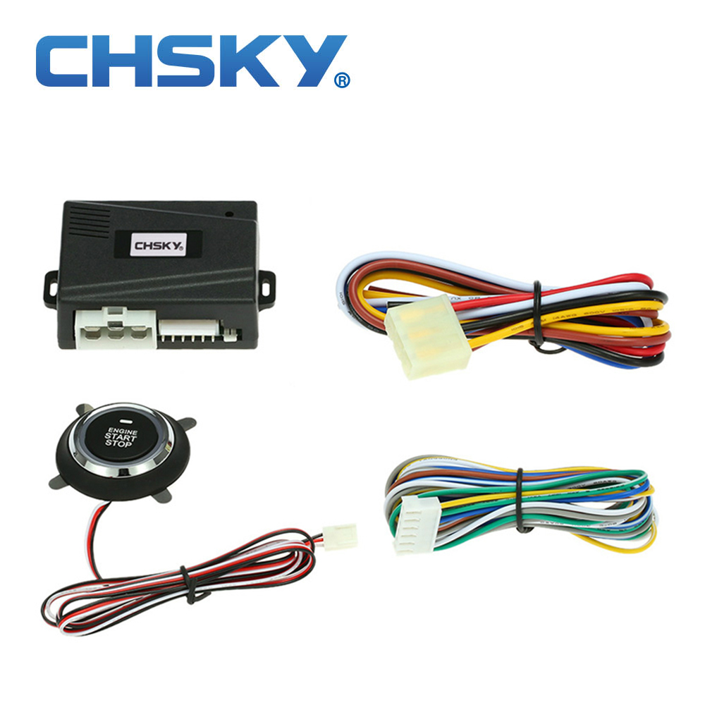 CHSKY Car-Alarm-System Push-Engine-Start-Stop-Button Universal Cars Rfid For 12v