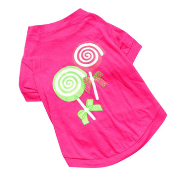 New Candy Pattern Pet Dog T-shirt Pet Dog Sweets shirts Outfit Puppy Summer T-Shirt Outerwear