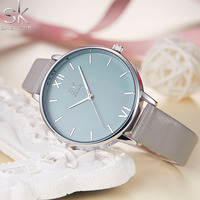 New SK Luxury Brand 2017 Women Watches Quartz Ladies Watch Women Fashion Watch Wristwatch Relogio Feminino