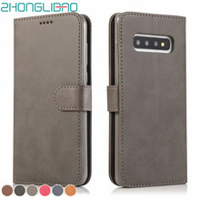 Retro Leather Flip Case for Samsung S10 5g S9 S8 Plus S7 S6 Edge Note 9 8 S10e A70 A30 A20 A50 A40 A20E M10 A10 M20 M30 2019 360(China)