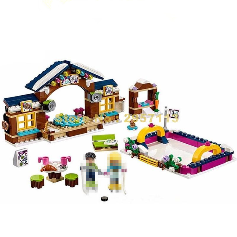 Lepin Friends 01043 Girls Club Snow Resort Ice Rink Building Block Compatible 41322 Brick Toys dahle 41322