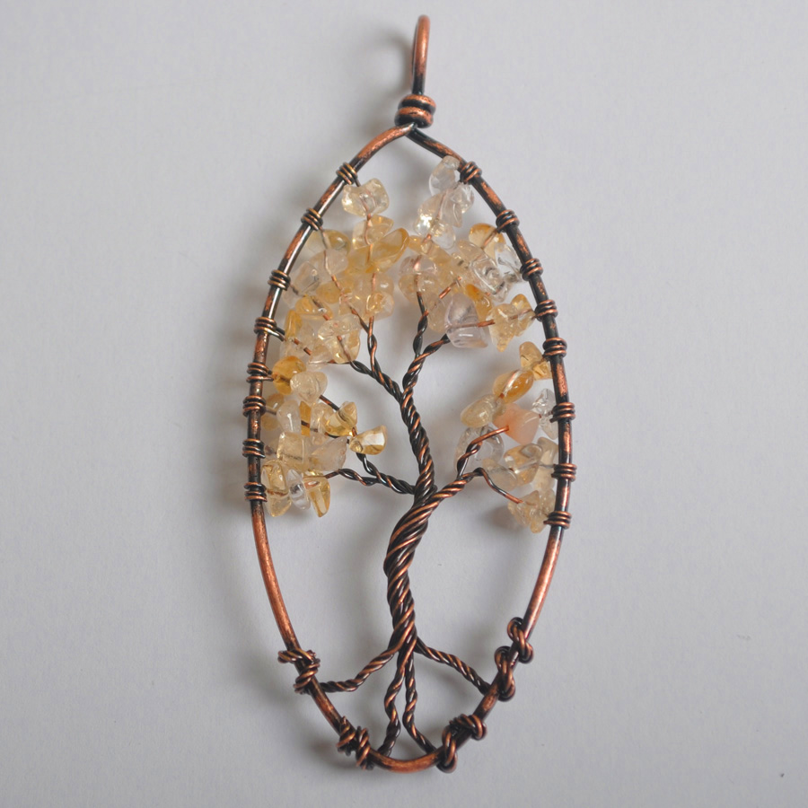 Hot Sale Free Shipping 89X40MM Handmade Wire Wrap Tree of life ...