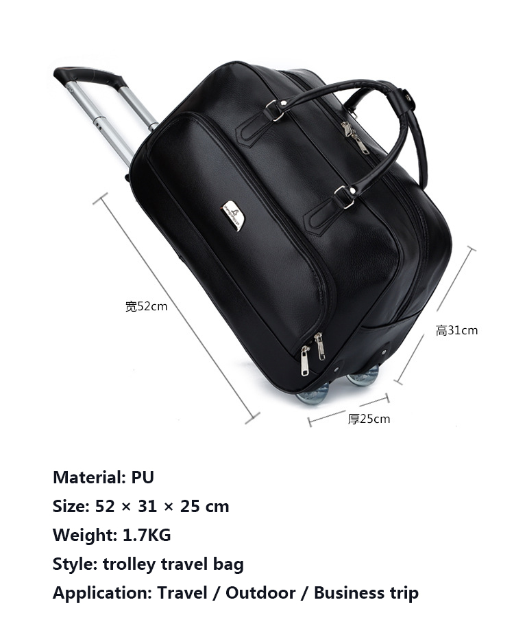 New 19 Inch Man Business Trolley Travel Bag Women Fashion Travel ... 192899ed01cf8