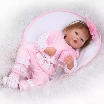 New NPK 55cm silicone reborn baby doll toy girls brinquedos birthday gift For Kid Cute Princess Doll Christmas Gifts bonecas super cute plush toy dog doll as a christmas gift for children s home decoration 20