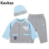 Kavkas 2018 Hot 3pcs Set Newborn Baby Boy Clothes Set Christmas Autumn Winter Infant Kids Boy