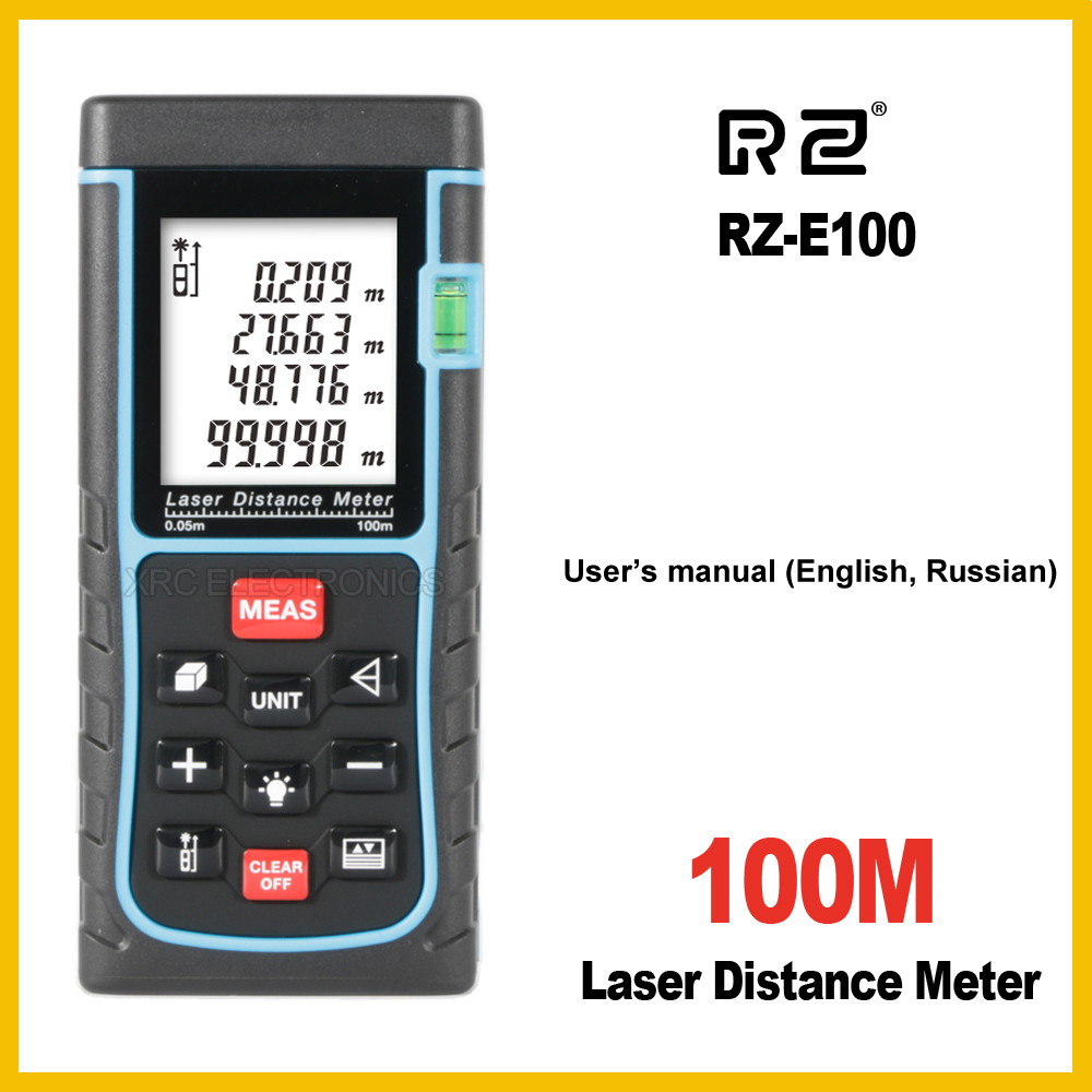 RZ Laser Distance Meter Range Finder Rangefinder 40m 50m 60m 70m 80m 100m Tape Trena Ruler Tester Hand Tool Device Build