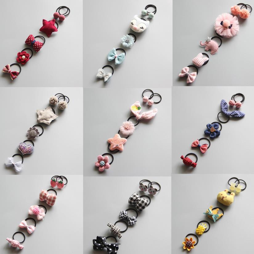 New Fashion Baby Delicate animal Fruit  flower Elastic Hair Band Hair Rope Hair Accessories Children Hair Accessories  Q6