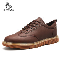 HOMASS 2018 Hot Men Shoes Fashion Spring Autumn Men Leather Footwear For Man New Comfortable Flat Casual Shoes Men Driving Shoes