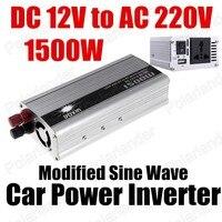 Groothandel transformator modifier sinus 12 V DC naar AC 220 V Auto Auto Omvormer Converter Adapter 1500 W