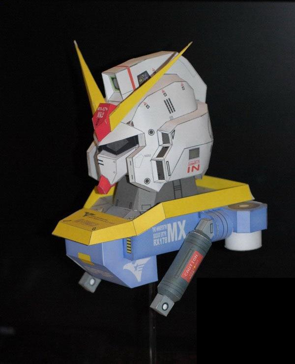 (ツ)_/¯Gundam Bust Rx-178 Mk2 Avatar 3D Paper Model DIY
