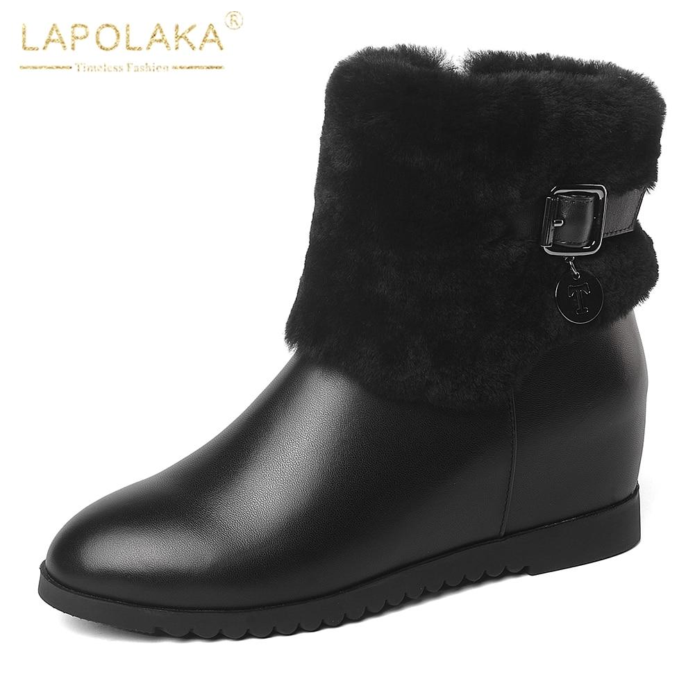 Gros Vache Femme Zip Mode Cheville Chaussures Bottes Taille Femmes 41 Plus La En Beige Lapolaka Cuir 34 De noir Up Nouvelle vpEv1