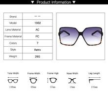 Higody moda damska okulary przeciwsłoneczne oversize Gradient plastikowe marka projektant kobiet okulary UV400 lentes de sol mujer tanie tanio higodoy Kobiety Z tworzywa sztucznego Cat eye Fotochromowe Dla dorosłych 1932 Poliwęglan 60mm 57mm