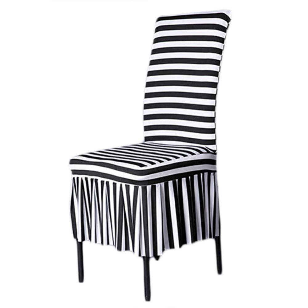 online buy wholesale black and white stripe chair covers from china black and white stripe chair. Black Bedroom Furniture Sets. Home Design Ideas