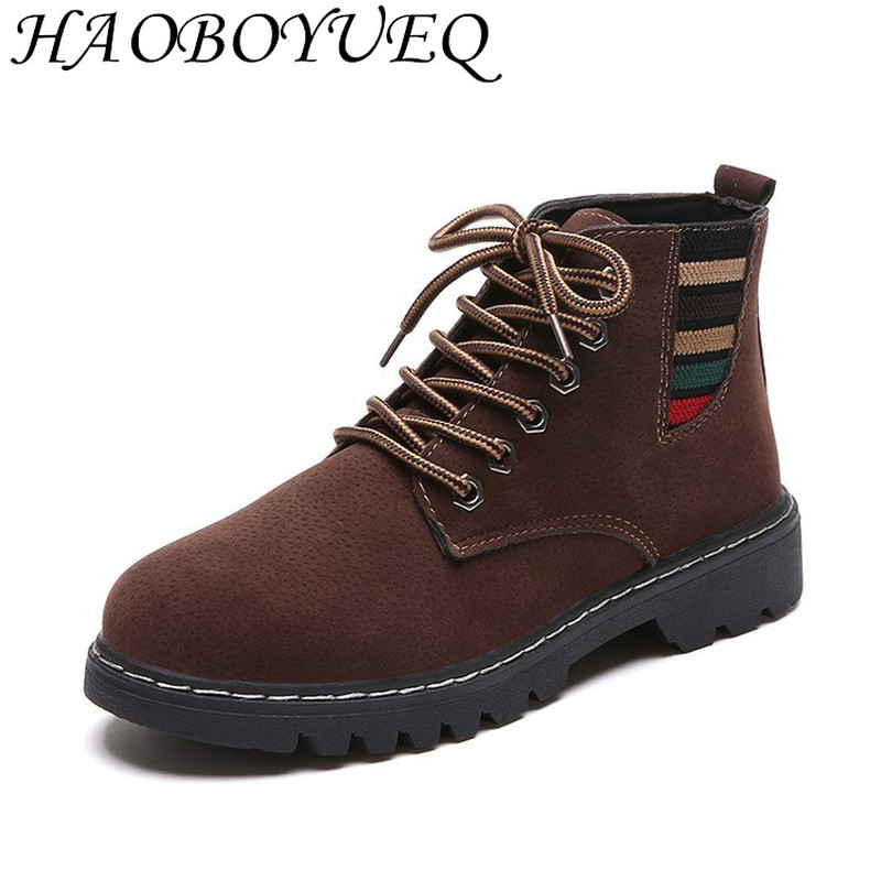 2018 fashion winter Women s Boots Latest fashion Work Boots Frenulum Flat  bottom Boots Short plush Women s Shoes-in Ankle Boots from Shoes on  Aliexpress.com ... 462f05d6c7