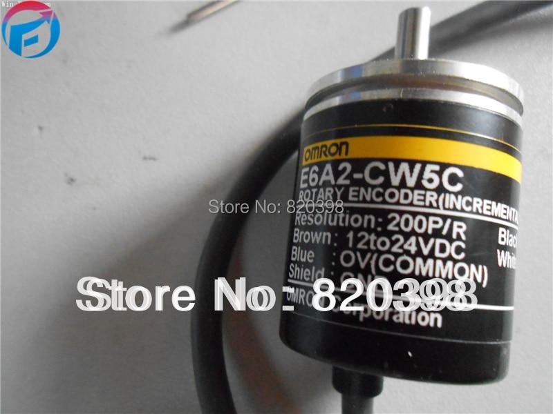 E6A2-CW5C Om... rotary  encoder E6A2 - CW5C 200 p/R 0.5 M free shipping e6a2 cs5c 60p r rotary encoder new e6a2cs5c 60p r inc 12 24vdc open a phase e6a2 cs5c 60p r
