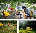Strand Stuhl Tragbare Camping Leichte Falten Angeln Outdoor Möbel Russland Lager Orange Rot Dunkelblau Strand Stuhl Tisch-in Strandliegen aus Möbel bei
