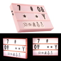 A4 Cinematic Cinema Light Up 84PCS Letter Box+ other gift letters Sign Lightbox Message Board Night Lamp 2 Color