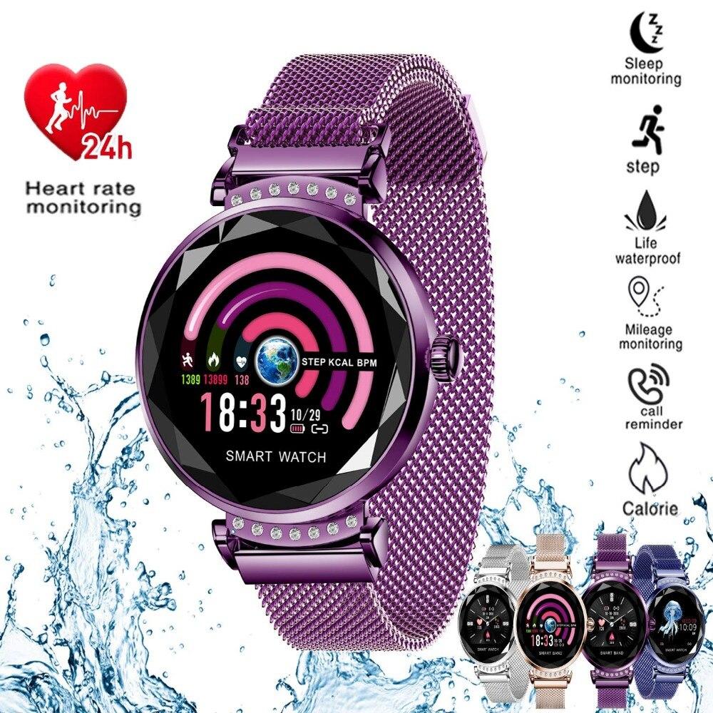 Relógio inteligente para As Mulheres, KENCOOL Aptidão Rastreador Smartwatch HR Banda Atividade Rastreador Sono Monitor de Pressão Arterial IP67 À Prova D' Água