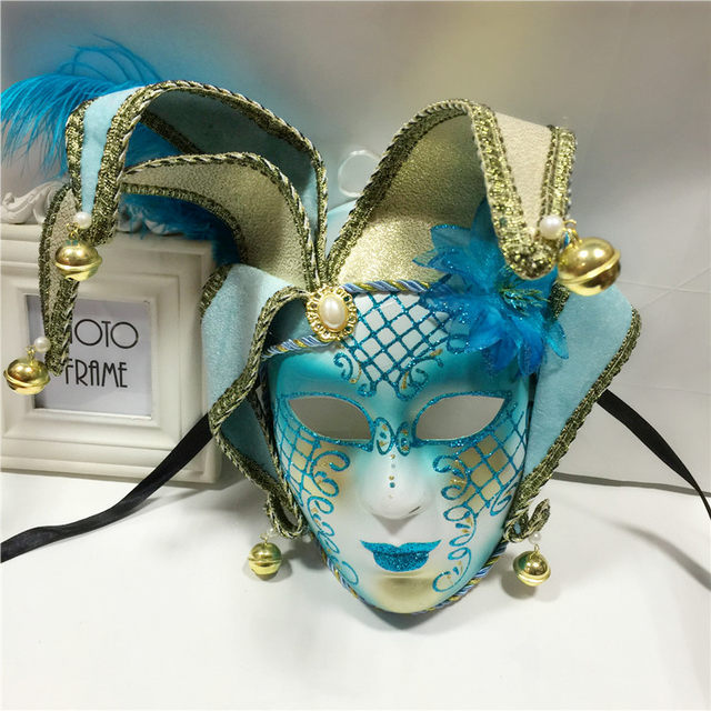 Online Shop Handmade Full Face Phantom Ball Venetian Masquerade Mask ...