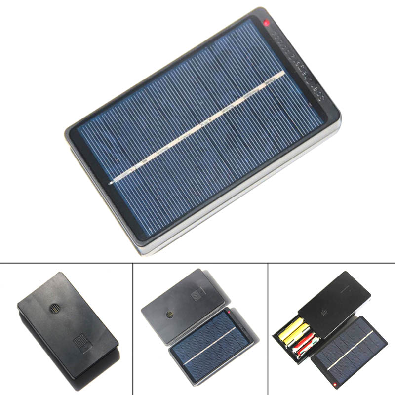 1w 4v Solar Panel Battery Charger Box For 2 Aa Aaa 1 2v